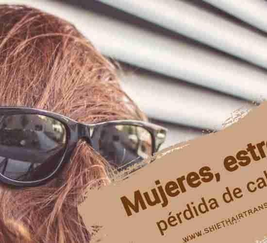 Mujeres estrés y pérdida de cabello