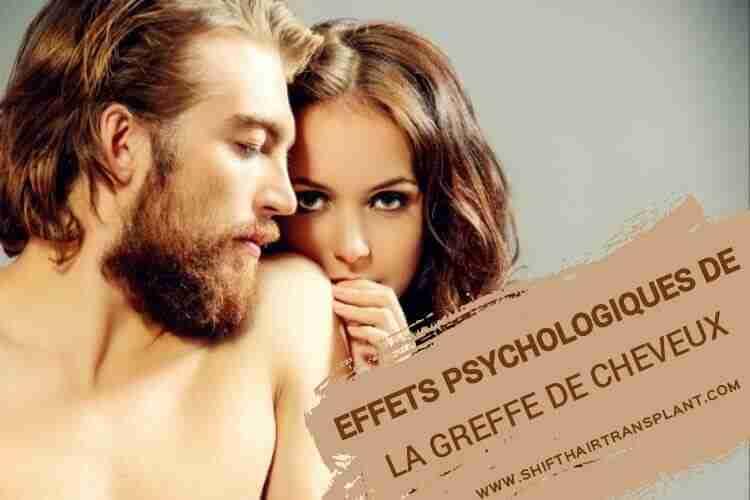 Les Effets psychologiques de la greffe de cheveux, Une femme blonde derrière un gars blond.