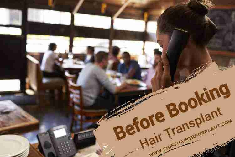 Hair Transplant Booking, a female answering the phone in a call centre.