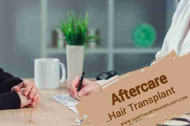 Hair Transplant Aftercare A doctor prescribing for a patient.