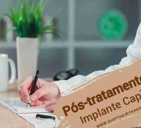Pós-tratamento do implante capilar, Um médico prescrevendo para um paciente.