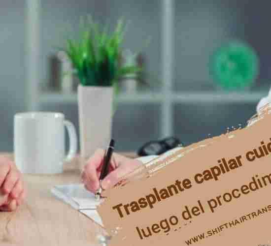 Trasplante capilar cuidados luego del procedimiento, Un médico que prescribe para un paciente.