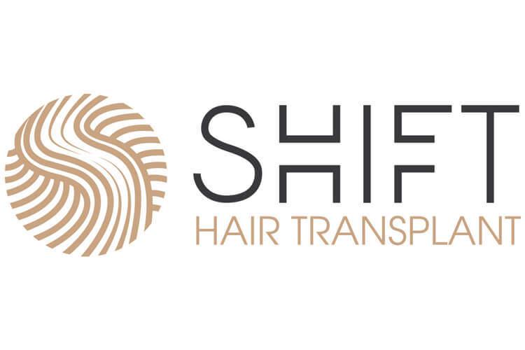 The logo of SHIFT Hair Transplant.