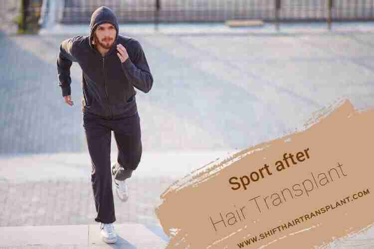 Exercising Post Hair Transplant, A man jogging in a park.