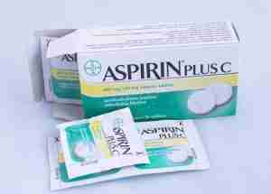 An open box of Aspirin Plus C.