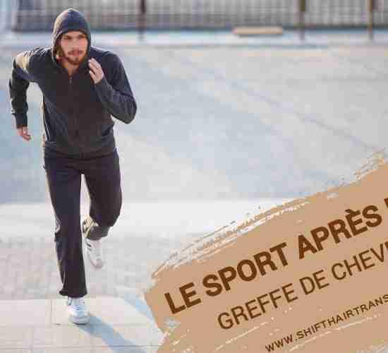 Le sport après la greffe de cheveux en Turquie, un homme dans un sweat à capuche qui court dans un parc.
