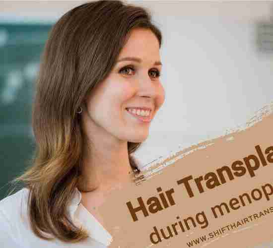 Menopause Hair Transplant, a smiling nice female teacher at the class.