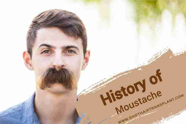 Moustache History, a man with a very thick moustache.