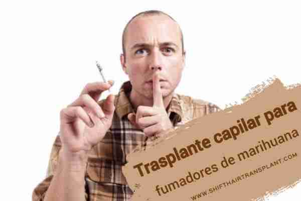 Trasplante capilar para fumadores, imagen principal del artículo del blog. de marihuana,