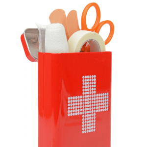 A medical kit on a white backgroınd.