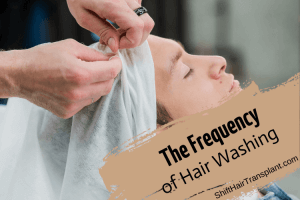 Hair Washing Frequency, a male getting his hair washed.