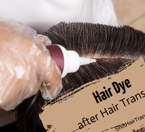 Hair Dye after Hair Transplant, a head getting a hair dye.
