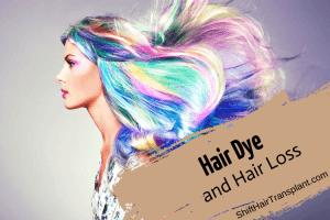 Hair Dye and Hair Loss blog main image.